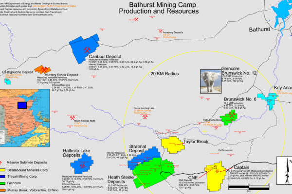 Bathurst Mining Production and Resources