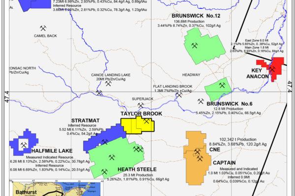 Taylor Brook Local Area Map